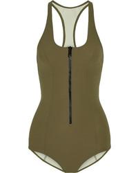 Lisa Marie Fernandez Elisa Bonded Swimsuit Army Green