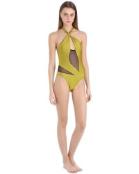 Emiliano Rinaldi Net Lycra One Piece Halter Swimsuit
