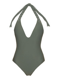 Mikoh Topanga V Neck Swimsuit