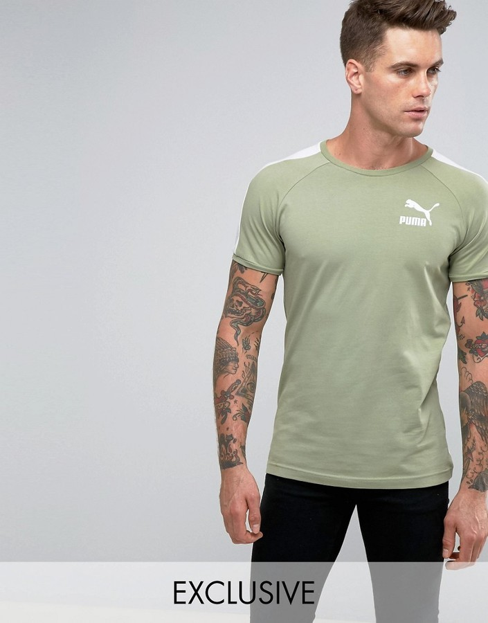 c48476979eb Puma Muscle Fit T Shirt In Green To Asos, $31   Asos   Lookastic.com