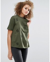 Asos T Shirt With Military Badges