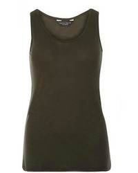 Dorothy Perkins Khaki Scoop Vest Top