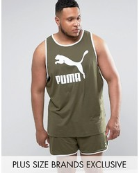 Puma Plus Jersey Tank In Green To Asos