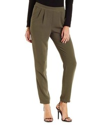 Charlotte Russe Pleated Skinny Trousers