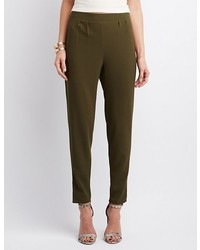 Charlotte Russe High Rise Pleated Trousers
