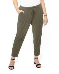 Evans Plus Size Crepe Tapered Trousers