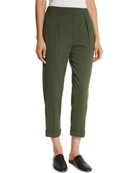 Vince Pull On Tapered Cropped Trousers