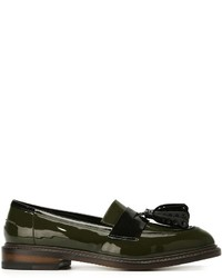 Olive tassel loafers original 2578605