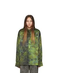 S.R. STUDIO. LA. CA. Green Soto Hand Dyed Silk Shirt