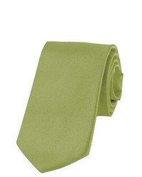 Jacob Alexander Solid Color Boys Tie By Olive Green