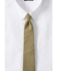 Lands' End Landsend Cotton Twill Necktie Blue Printl