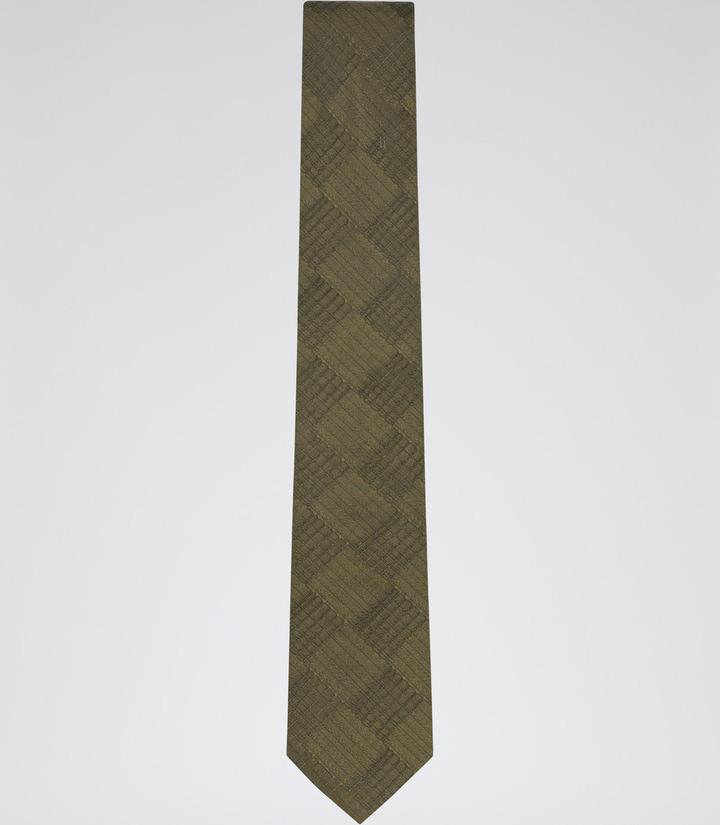 Reiss Rambo Cross Hatch Silk Tie