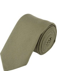 Lardini Wooster Wooster Brushed Canvas Neck Tie Green