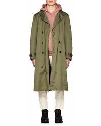 As65 Fur Lined Cotton Trench Coat