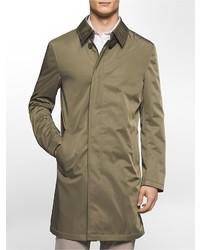 Calvin Klein X Fit Ultra Slim Fit Lightweight Olive Raincoat