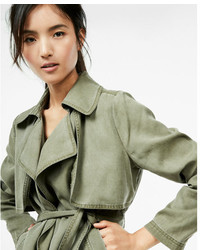 Express Casual Silky Soft Twill Trench Coat