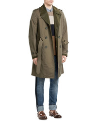 Burberry Cotton Blend Trench Coat