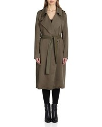 Badgley Mischka Faux Long Trench Coat