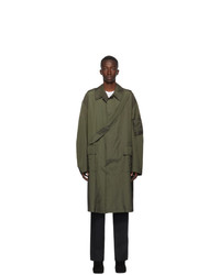 Random Identities Green Punched Trench Coat