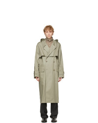 Lemaire Grey Technical Trench Coat