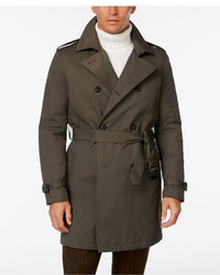 Tommy Hilfiger Lester Dark Olive Trench Raincoat