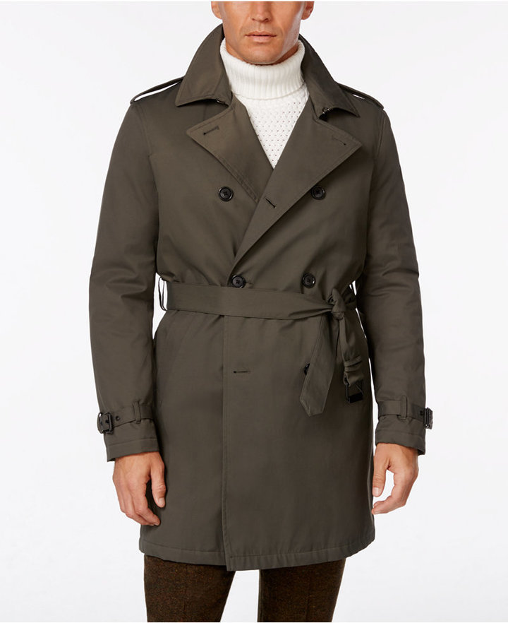 Favorite Tommy Hilfiger Lester Dark Olive Trench Raincoat | Where to buy  AB44