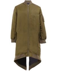 Moohong Zip Up Low Back Raincoat