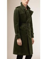 Burberry Prorsum Corduroy Trench Coat