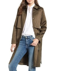 Scotch & Soda Shiny Structured Trench Coat