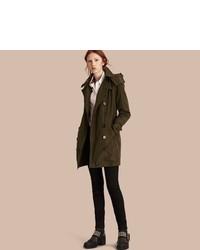 Burberry Taffeta Trench Coat With Detachable Hood