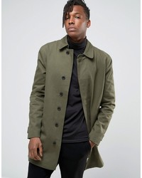 ONLY & SONS Trench In Heavy Cotton Twill