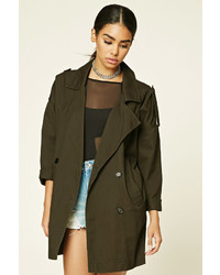 Forever 21 Canvas Trench Jacket