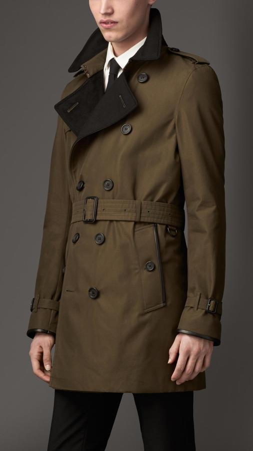 Wool cashmere detail gabardine trench coat original 139474