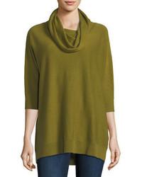 Cashmere collection cowl neck cashmere tunic medium 4353769