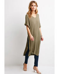 Forever 21 Contemporary Crepe High Slit Tunic