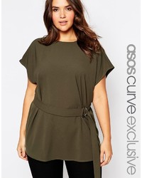 Asos Curve Curve Tunic With D Ring Belt