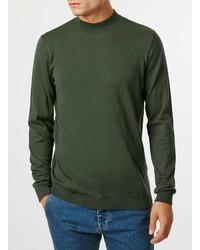 Topman Khaki Turtle Neck Sweater
