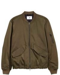 409aafc59 Olive Twill Bomber Jackets for Men | Men's Fashion | Lookastic.com