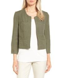 Nordstrom Collection Crop Linen Cotton Jacket