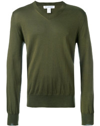 Olive v neck sweater original 398718