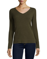 Cashmere collection modern cashmere v neck sweater medium 1159845