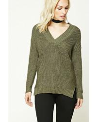 Forever 21 Contemporary V Neck Sweater