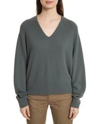 Deep v neck cashmere sweater medium 5209584