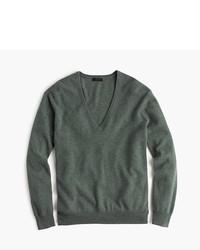 Italian cashmere boyfriend v neck sweater medium 621922