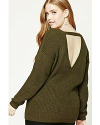 Forever 21 Plus Size Ribbed V Neck Sweater