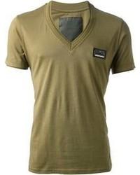 Olive V-neck T-shirt