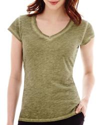 jcpenney Ana Ana Short Sleeve V Neck T Shirt