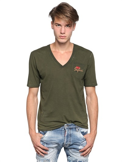 Shirt Dsquared T Cotton Jersey 255 D2 Luisaviaroma Safari fSxfBz