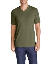Eddie Bauer Legend Wash Short Sleeve V Neck T Shirt Classic Fit