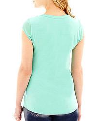 Olive v neck t shirt j crew tissue v neck tee where to for Liz claiborne v neck t shirts